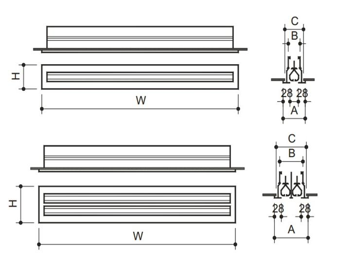 Linear Diffuser Cad Detail : Linear diffuser dimensions user guide manual that easy